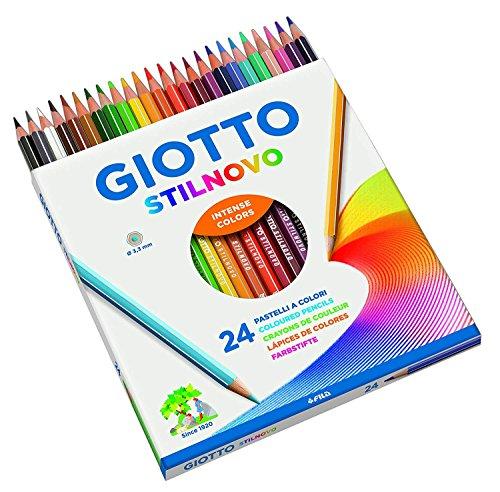 Giotto 6 x Stilnovo pastelli Colorati in Astuccio 24 Colori - 6 Confezioni