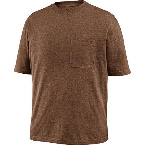 Wolverine Knox Herren-T-Shirt, kurzärmelig, Wicking-T-Shirt, Bison Heather, Größe XXL