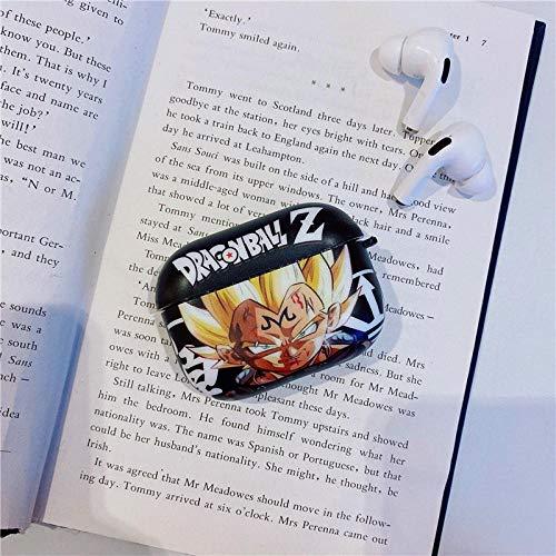 Funda protectora para auriculares con diseño de anime Dragon Ball Goku Vegeta compatible con AirPods Pro 3 Bluetooth Headsetcase Protectora Funda-Vegeta sobre Black_AirPods Pro3