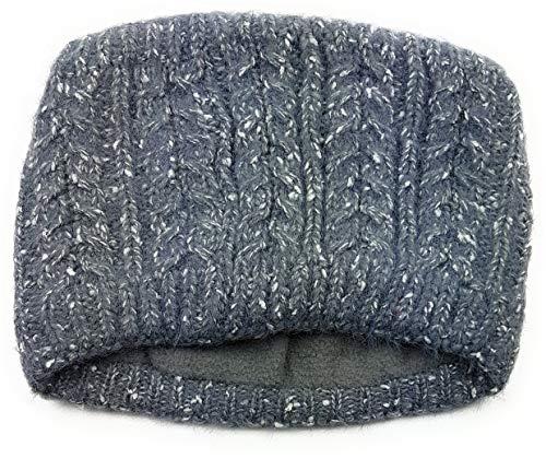 Feelinko Gevoerde gebreide hoofdband met vlechtpatroon binnenvoering fleece haarband oorwarmer oorwarmer