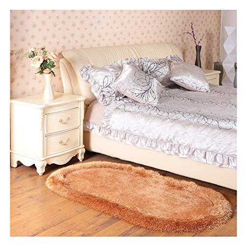 ANCRY Modern Style tapijt 6 cm dik dicht Haufen Niet Beleg meisje slaapkamer tapijt mat Easy Clean ovaal ronde kindermatten voor poppen salon kruipen