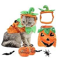 ヘッドドレス猫服ハロウィン衣装とかぼちゃ猫の服おかしい猫ハロウィン衣装ドレスアップ zhengpingpai