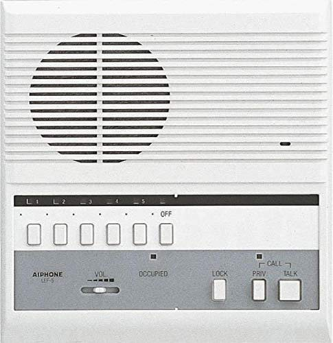 Aiphone LEF-5 Open Voice Selective Call Master Intercom with Door-Release Button, Accepts Up to Five Connecting Door, Sub-Master, or Master Intercoms