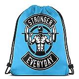 QUEMIN Stronger Everyday Unisex Drawstring Beam Port Bag, Fashion Gym Deportes al Aire Libre Mochila de Viaje Bolsas de Hombro de Almacenamiento 14.2 x 16.9 Pulgadas / 36 x 43cm