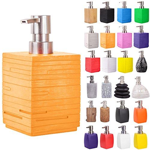 Seifenspender | viele schöne Seifenspender zur Auswahl | modernes, stylisches Design | Blickfang für jedes Badezimmer (Calero Orange)