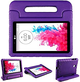 LG G Pad 7.0 Case – SIMPLEWAY Protective Handle Stand Tablet Case Cover Compatible with LG G Pad V400 / V410 (LTE) / VK410 / UK410 / LK430 (G Pad F7.0) 7 Inch,Purple