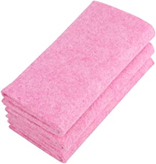 Raosky Kitchen Towels,Kichen rag,Highly Absorbent Dish Washing Towel, Soft and Lint Free Dish Towels, 30x30cm Coconut Shell Rag, Pack of 3, Pink