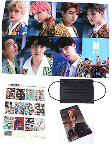 BTS bangtan Jungen – 12 Foto Poster (41,9 x 29,7 cm) + 1 Aufkleber + 5 Fotos (10,2 x 7,6 cm) (0. BTS)