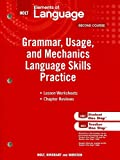 Elements of Language: Grammar Usage and Mechanics Language Skills Practice Grade 8