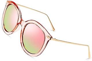 Fashion Women Sunglasses of Polarized, PARZIN Round Novelty Cat Eye Eyewear for Beach, Travel, Business