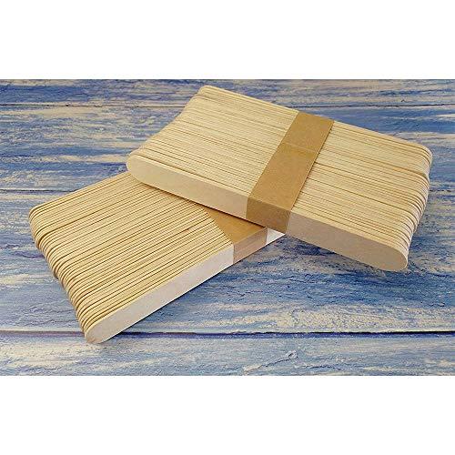 100 palos de piruleta tamaño grande 150 mm x 18 mm de madera natural para arte …