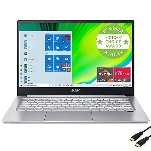 "Acer Swift 3 Thin & Light 14"" FHD IPS Laptop, AMD Ryzen 7 4700U 8-Core with Radeon Graphics, WiFi 6, Backlit KB, Fingerprint Reader, Alexa Built-in, Windows 10 Home (8GB|512GB SSD)"