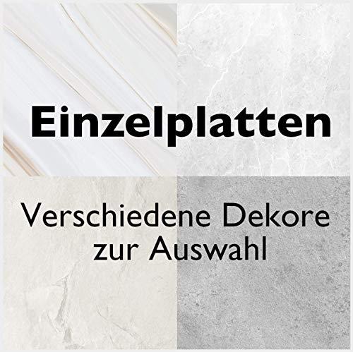 Duschrückwand Dekor - Wand Verkleidung Dusche Bad Rückwand mit Motiv Muster - Stein Marmor Sand Optik (Deep Ivory)
