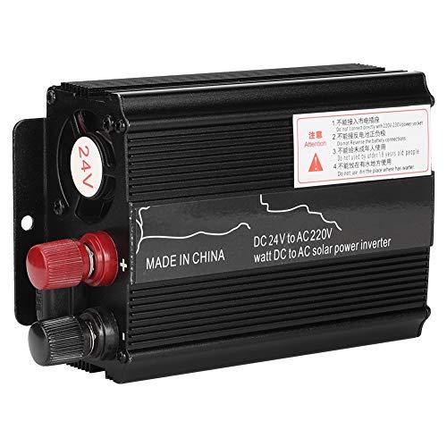 Solar Power Inverter, 3000W 12/24V to 110/220V Car Solar Power Inverter Modified Sine Wave Converter Black