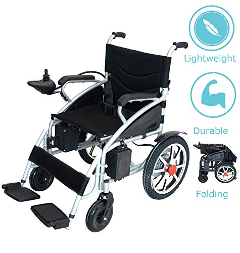 Culver Best Wheelchair 2019 New Electric Wheelchair Folding Lightweight Heavy Duty Electric Power Motorized (Free Wheelchair RAMP Gift)