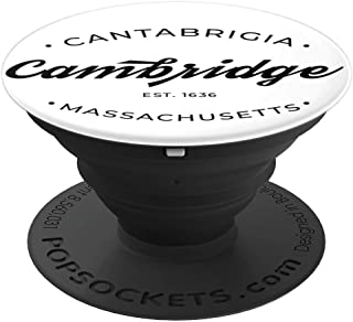 Cambridge Massachusetts Cantabrigia Retro Design PopSockets Grip and Stand for Phones and Tablets