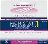 Monistat 3 Vaginal Antifungal Medication, 0.18-Ounce, 3 Prefilled Applicators (Pack of 2)