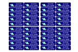 50 personalisierte Klebeetiketten