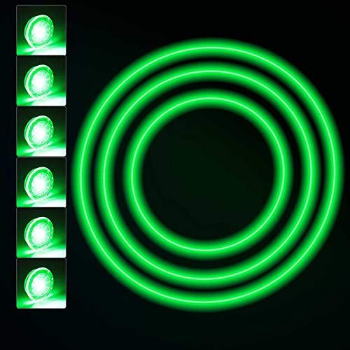 6 Pezzi Luci per Ruote Bici Impermeabili Luce per Ruota di Bicicletta Ciclismo LED Raggi di Luci Colorate Bicicletta Luce per Pneumatici con Batterie Incluso Bicicletta di Sicurezza