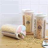 Multifuncional de almacenamiento Jar Alimento de la cocina Snacks selladas frijoles secos fruta granos Tanque de almacenamiento de almacenamiento de alimentos Rice Box Almacenamiento Jar cubierta de j