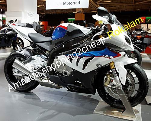 Kit de carénage de carrosserie (moulage par injection) pour S1000RR S 1000 RR S 1000RR S1000 RR 2010 2011 2012 2013 2014 - Blanc Bleu Noir