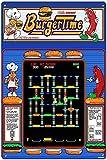 Oddss Vintage Burger Time Games Cartel de chapas, Decoración de Placa de Pared de Letrero de Metal Retro Funny Gifts for Bar Restaurant Home Decoration Mural Posters, 8x12 Inches