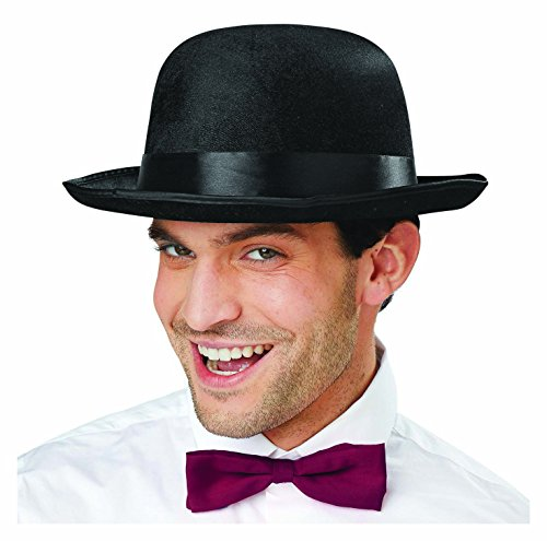 Deluxe Black Bowler Hat Dress Up Costume Accessory