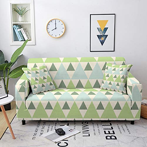 Fundas de sofá elásticas, universales, de estilo simple, geometría impresa, fundas elásticas de poliéster y licra, para sofá de cama individual a cuatro plazas, 2, plazas 145, 185C