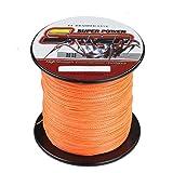 Spider 高強度 4編 PEライン 釣り糸 100m 300m 500m 1000m 2.0号 20LB フィッシングライン (オレンジ, 100m)