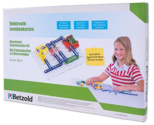 Betzold 89211 - Elektronik Lernbaukasten Kinder - Experimentierkasten Technik-Bausatz