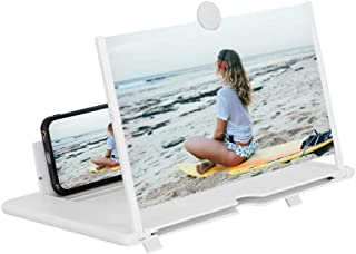 14 Inch Phone Screen Magnifier,Ultra-Clear Mobile Phone Screen Amplifier With Folding Stand Holder Portable Anti-Radiation...