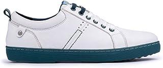 MERÖHE Ushuaia | Zapatillas para Hombre de Piel Blanco | Cierre de Cordones | Casual | Piel | Plantilla Gel Extraíble | Co...