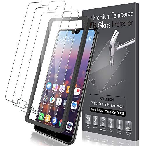 LK Pellicola Protettiva per Huawei P20 PRO Vetro Temperato,[3 Pezzi] [9H Durezza] Protezione Schermo Screen Protector [Strumento per Una Facile Installazione]