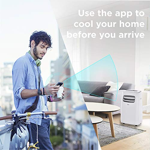 Midea MAP12S1BWT 3-in-1 Portable Air Conditioner, Dehumidifier, Fan, 12000btu Enabled (2019 Version), for Rooms up to 275 sq ft, Control with Remote, Smartphone or Alexa