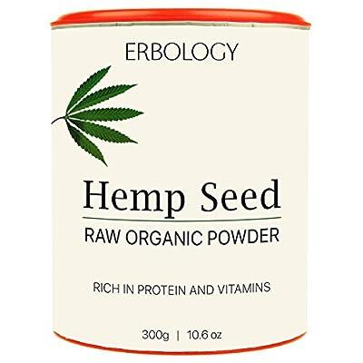 Raw Organic Hemp Protein Powder 300g - Rich in Vitamin D and Minerals by Erbology