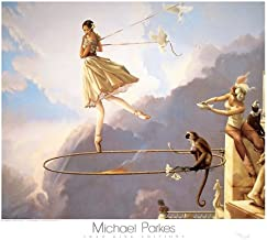 Tuesday's Child Michael Parkes Ballet Fantasy Animals Print Poster (Overall Size: 31.5x27.5) ( Image Size: 27.75x22.75)