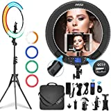 IVISII 19 inch Ring Light with Remote Controller and Stand ipad Holder,60W...