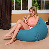 Amazon top Selling Big Comfy Bean Bag Large Beanbag Removable Cover for Kids, Teens and Adults - Polyester Cloth Furniture for All Ages (Aqua)
