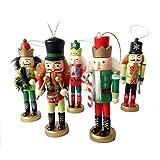 Christmas Muñeca Decoration Cascanueces Puppet King Soldier Gift Set Table Ornament Decoración de Navidad Christmas Children's Room Decoration 5 Piezas Juguete Set