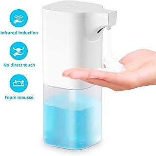 Smyidel Dispensador automático de jabón sin Contacto con Sensor de Movimiento infrarrojo, dispensador de jabón líquido a Prueba de Agua IPX3 para baño, Kithcen y Hotel, Blanco 350ML(B)