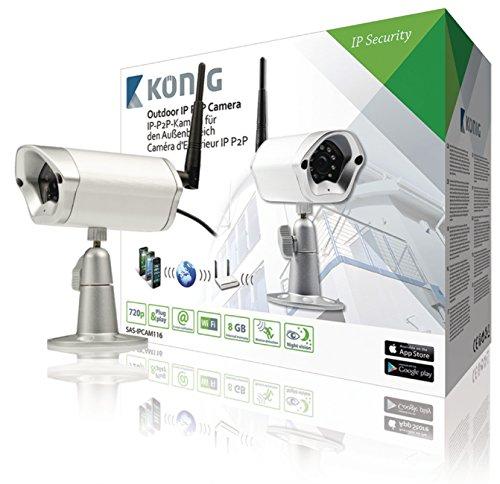 König SAS-IPCAM116 Telecamera di sicurezza IP Esterno Capocorda Bianco telecamera di sorveglianza