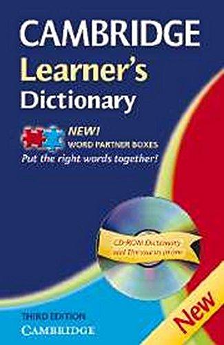 Cambridge learner's dictionary. Intermediate to upper intermediate. Con CD-ROM