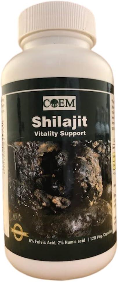 SHILAJIT 120 Capsules 375 mg - Acid Fashion Acid†2% Humic OFFicial shop 6% Fulvic
