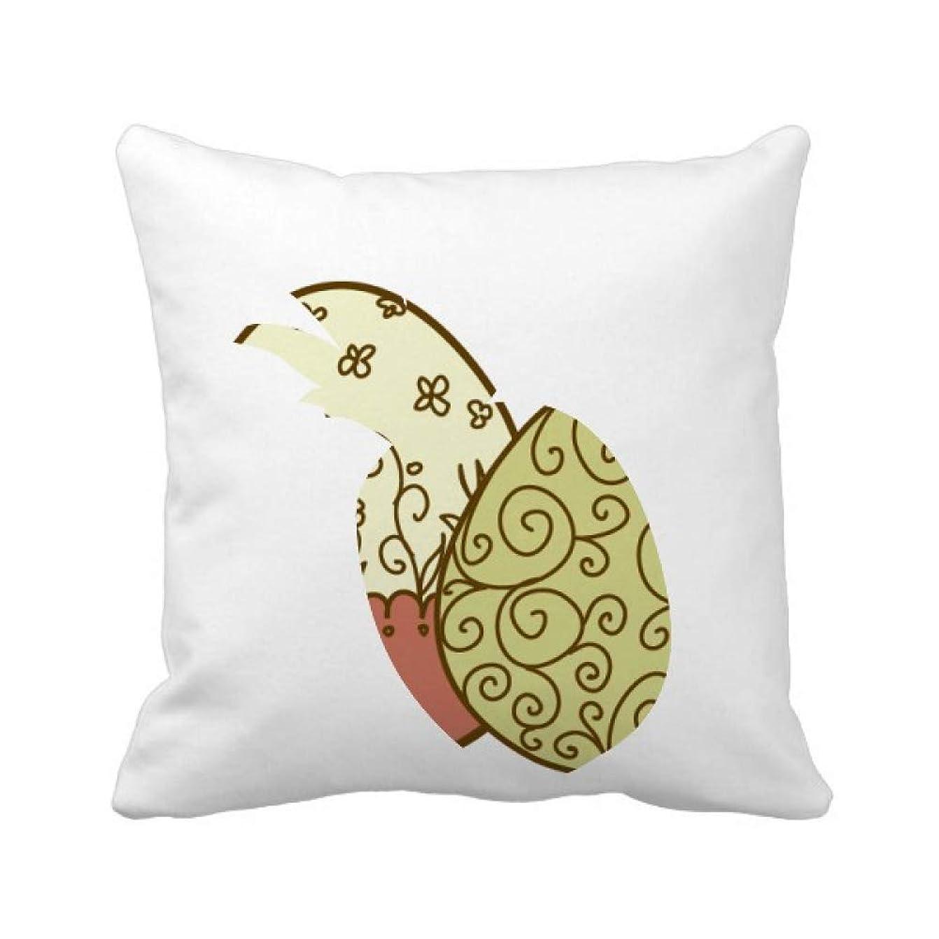 コンテスト許される連続したイースター祭の花の卵 パイナップル枕カバー正方形を投げる 50cm x 50cm