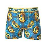 Crazy Boxer Bitcoin diseño hombres de la ropa interior escritos del boxeador grande