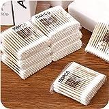 MoonyLI Coton-Tige en Bambou et Coton, Coton-Tige jetable applicateur Coton-Tige en Bambou Coton-Tige, Coton-Tige en Bois
