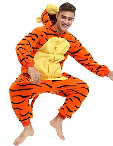 Es Unico Tigger Onesie for Adult Men Women. Tigger Costume (M/L) Orange