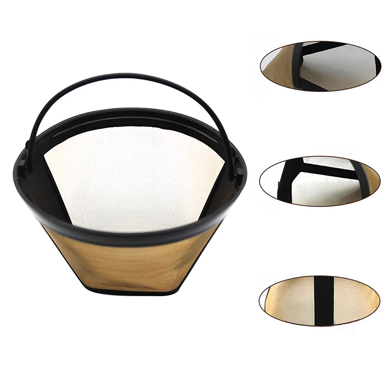 Hand grinder,longdelaY6 Stainless Steel Reusable Cone Shaped Coffee Filter Strainer Kitchen Accessories