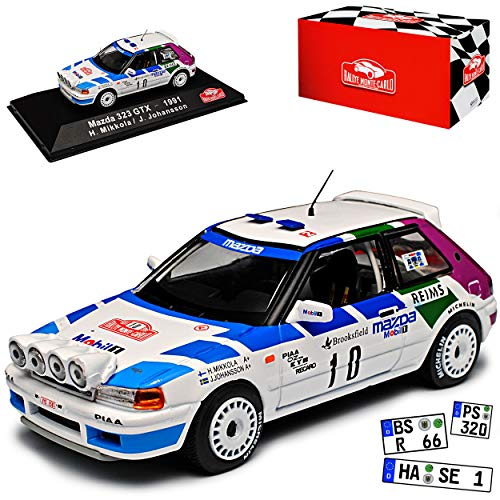 Mazda 323 GTX Mikkola Johansson Rallye Monte Carlo 1991 1/43 Atlas Modell Auto