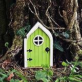 NMSLCNM Miniatur Fee_Elf Haustür Für Haus, Elfentür aus Holz Zum öffnen mit Lustigem Wichtel,Spielhausdekorationstür Basteltür 3D-Deko, Fenster Und Tür Für Bäume, Hof, Kunst, Garten, Skulptur